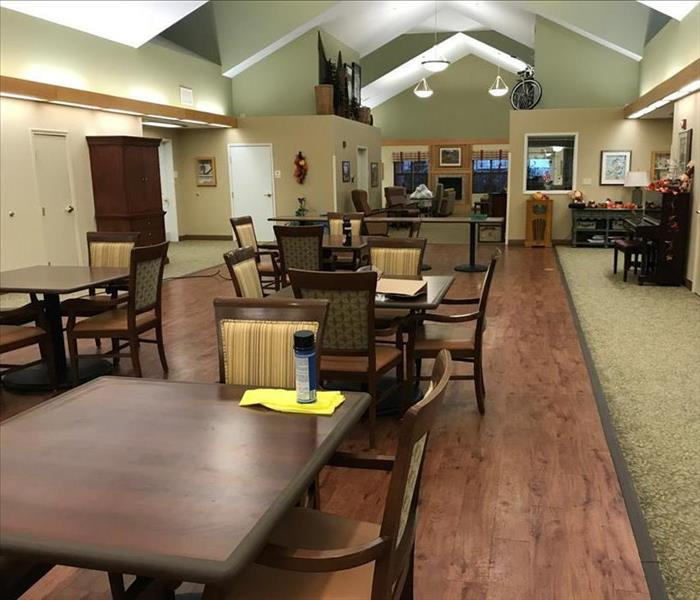 Cleaned senior care facility